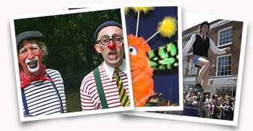 Clowns, Puppets, Circus Acts from Circus Scene
